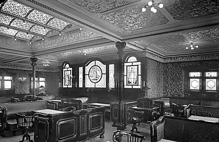 RMS Adriatic First Class Smoking Room 1906
