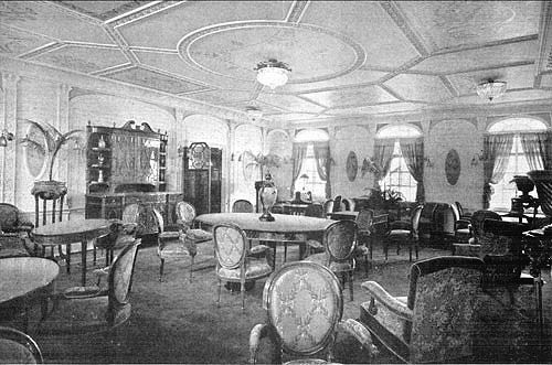 RMS Adriatic Writing Room 1907