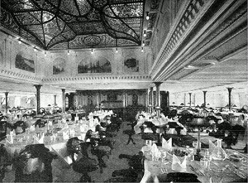 RMS Adriatic 1907 Dining Saloon