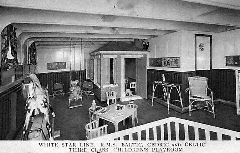 RMS Baltic Third Class Children's Playroom 1903